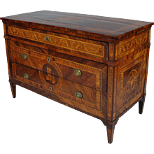 Fine Inlaid Commode Attributed to Gaspare Bassani