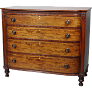 Fine Late Regency Mahogany Gentleman's Chest of Drawers