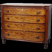 Fine Late Regency Mahogany Gentleman's Chest of Drawers