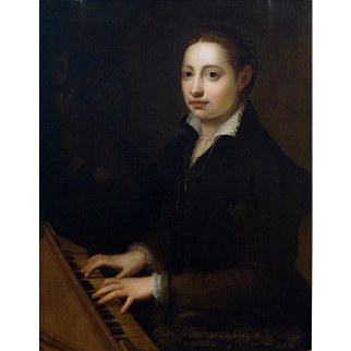 """After Sofonisba Anguissola """"Self Portrait at the Clavichord"""""""