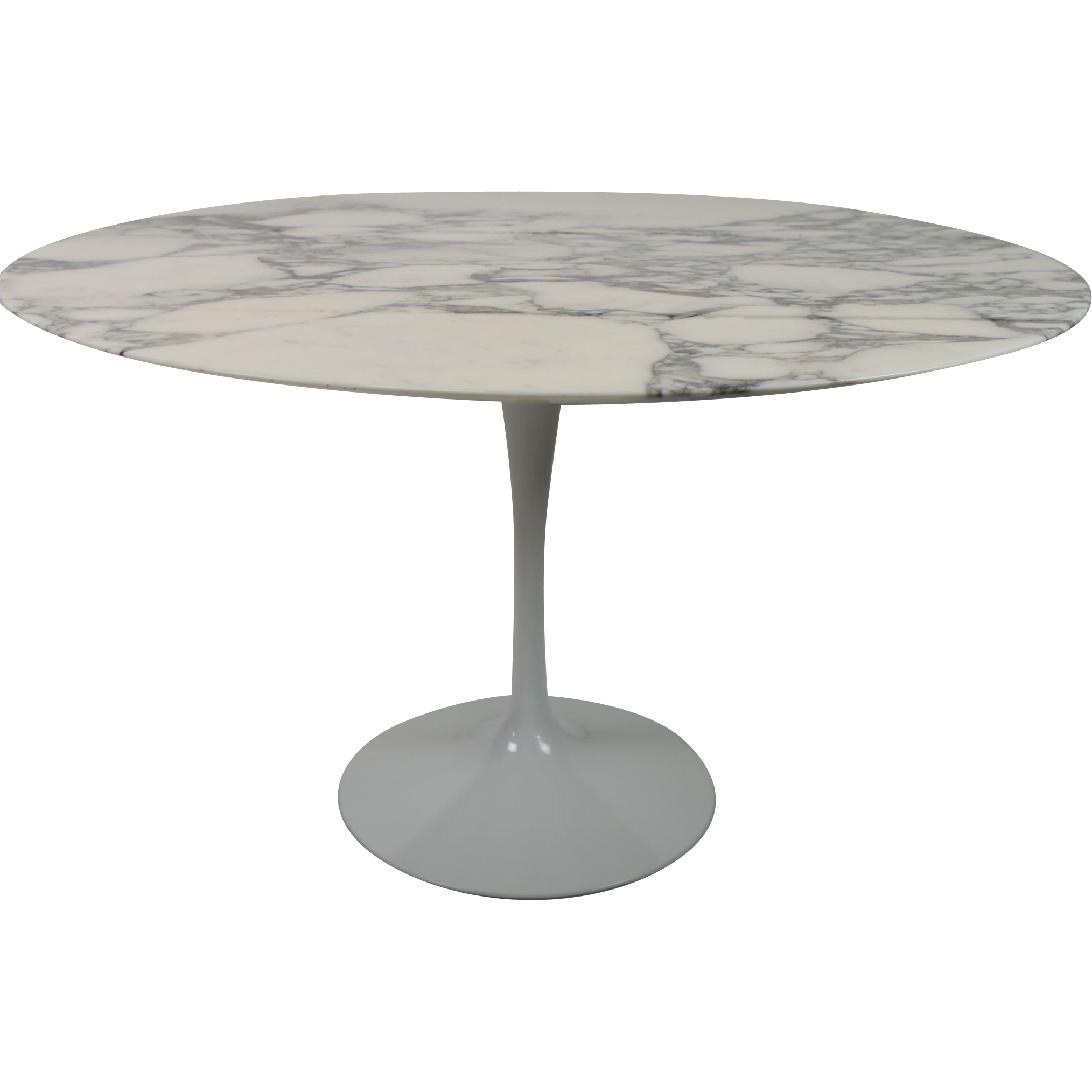 Carrara Marble Top Tulip Base Dining Table by Eero Saarinen for