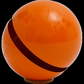 Modernist Orange Globe Table Lamp by Andrea Modica