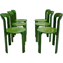 Green Dining Room Chairs by Bruno Rey 1971 Switzerland