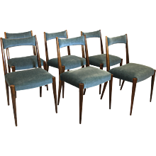 20th Century Viennese 6 Dining Chairs by Anna-Lülja Praun