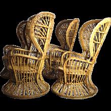 Italian Mid Century Modern Wingback Chairs by Lio Carminati circa 1948