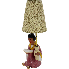 Viennese Ceramic Table Lamp by Carli Bauer 1950s