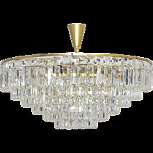 20th Century Austrian BAKALOWITS Crystal Glass Chandelier 1960s