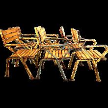 Mid Century Modern Garden Chairs by Julius Jirasek circa 1955 Vienna
