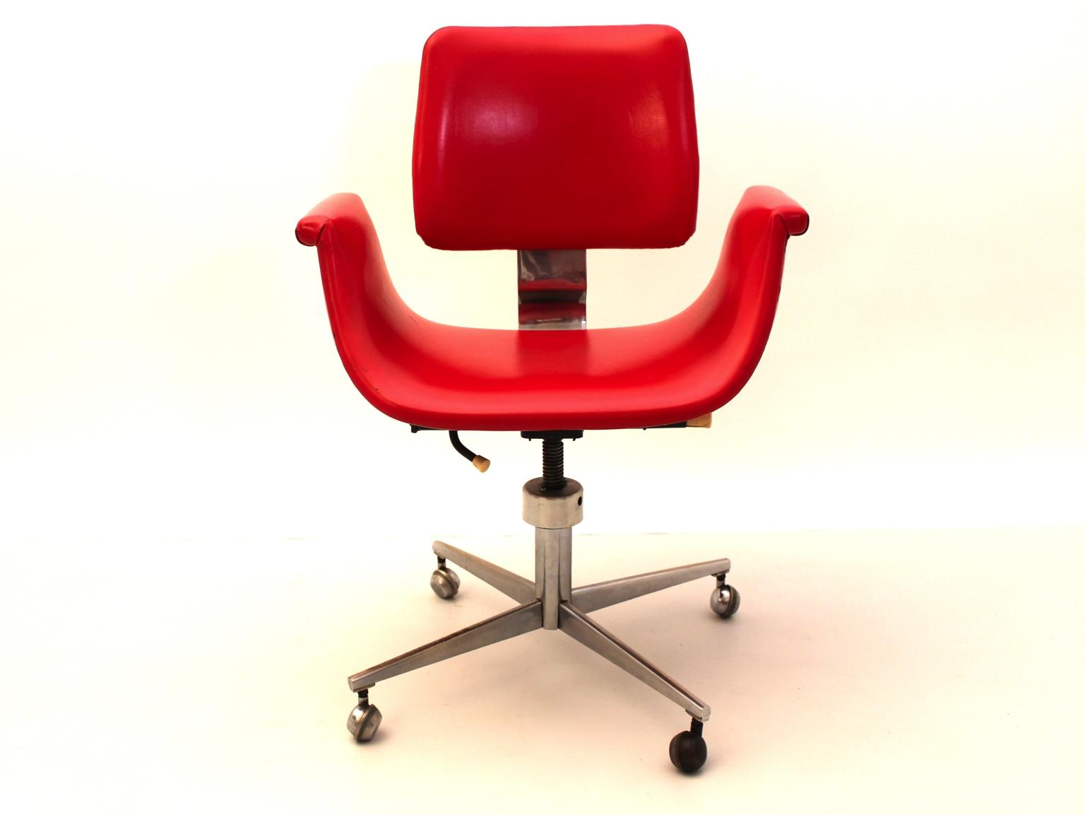 mid century modern swivel desk chair in the style of gastone