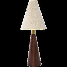 Mid Century Modern Teak Table Lamp circa 1960