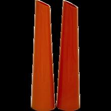 Pair of Italian Handmade Glass Vases 1970