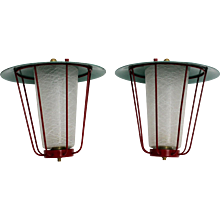 Pair of J. T. KALMAR Lanterns Vienna circa 1960