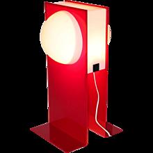 Postmodern Red Plastic Light signed HG