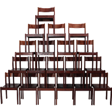 Up to 19 Italian Stacking Chairs circa 1970
