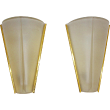 Mid Century Pair of Conical Sconces 1960s Germany
