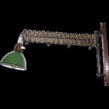 Scissor Lamp Industrial Style circa 1930