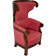 19th Century Biedermeier Wingback Chair c.1825 Vienna