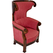 19th Century Biedermeier Wingback Chair c.1825 Vienna