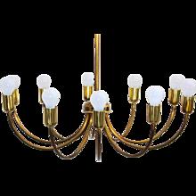 Brass Chandelier Vienna 1950s