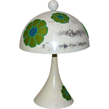 Trompet Table Lamp with Flowers 1970 USA