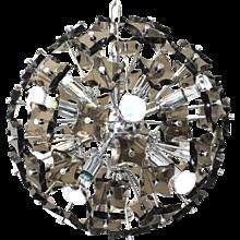 Smoked Crystal Glass Sputnik Chandelier attr. Fontana Arte 1960s Italy