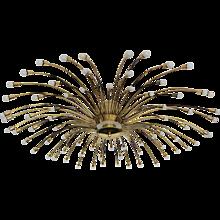 Kalmar Supernova Brass Chandelier circa 1950