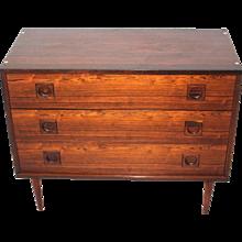 Scandinavian Modern Chest with three drawers circa 1960