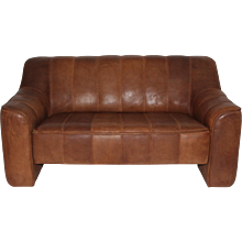 De Sede Leather Love Seat circa 1970 Switzerland