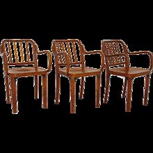 3 Bentwood Chairs attr. to Josef Frank Vienna 1930s