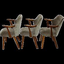Set of Three Armchairs attr. to Oswald Haerdtl, vienna 1950s