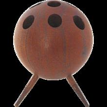 Tripod Walnut Candleholder, 1950s