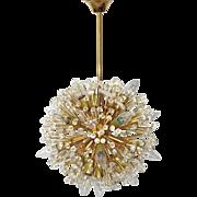 Snowball gold-plated Chandelier by Emil Stejnar circa 1955 Vienna