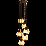 Brass Chandelier by Kalmar Vienna 1960s