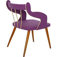 Lilac Armchair italy circa 1950