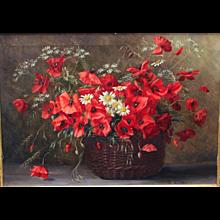 Poppy Flowers by Camilla Göbl - Wahl Vienna circa 1940