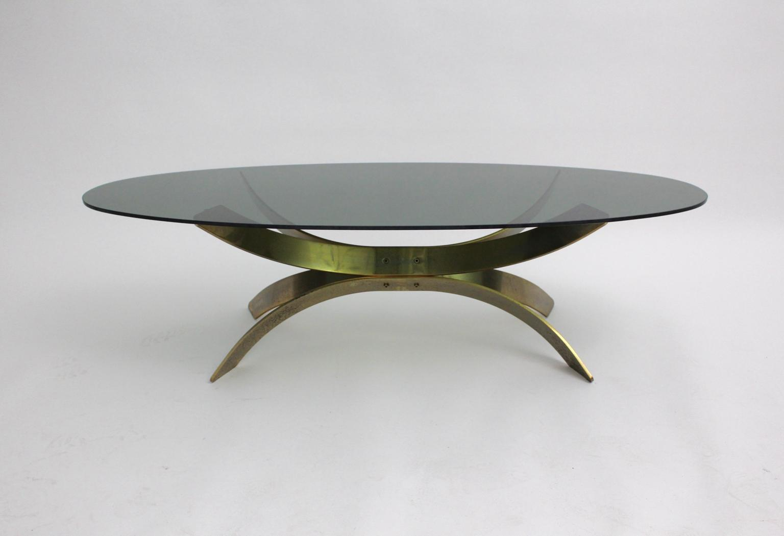 brass coffee table circa from nobarock on rubylux