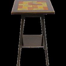 Ar tDeco Side Table with ceramic tiles circa 1930