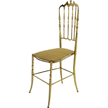 Brass Chiavari Side Chair 1950s Italy