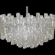 Iceglass Chandelier by J. T. Kalmar Vienna 1960s
