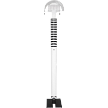 Black and white Floor Lamp Shogun by Mario Botta Italy 1980s