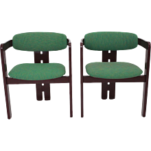 Green Pair of Armchairs Pigreco by Tobia Scarpa 1957 Italy