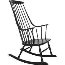 Black rocking Chair Grandessa by Lena Larsson 1961 Sweden
