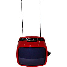 Red Television Set Ikaro 1200, 1970s