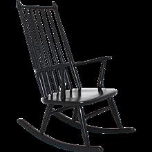 Black Scandinavian Rocking Chair 1960s