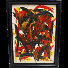 Modern Painting by Martha von Jungwirth Vienna 1960s