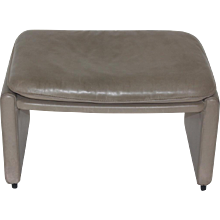 Grey De Sede Leather Stool 1980s Switzerland