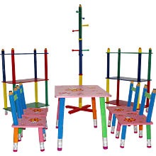 Postmodern Children Sitting Set by Pierre Salla 1980s