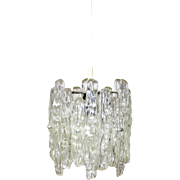 Iceglass Lucite Hanging Lamp by J. T. Kalmar 1960s