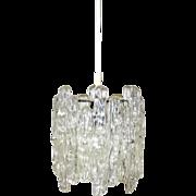 Iceglass Lucite Hanging Lamp by J. T. Kalmar 1960s