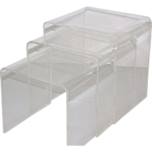 Set of Three Lucite Nesting Tables 1970s